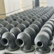 silicon carbide nozzle for flue gas desulfurization