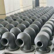 silicon carbide nozzle for flue gas desulfurization